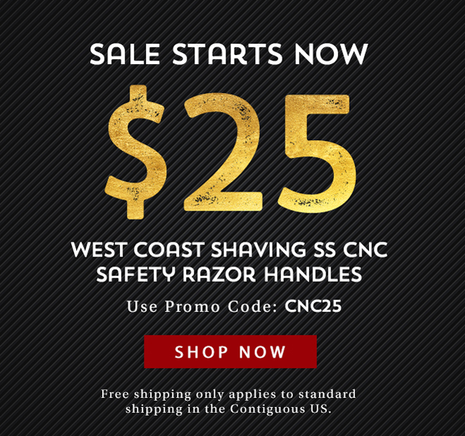 Sales Starts Now $25 WCS SS CNC Safety Razor Handles - Shop Now
