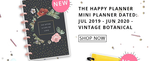 The Happy Planner Mini Planner Dated: Jul 2019 - Jun 2020 - Vintage Botanical