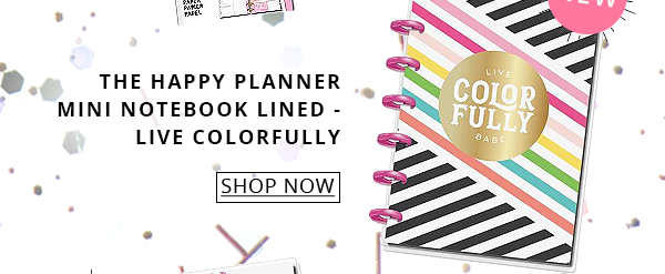 The Happy Planner Mini Notebook Lined - Live Colorfully
