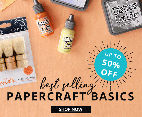 Up to 50% off Papercraft basics