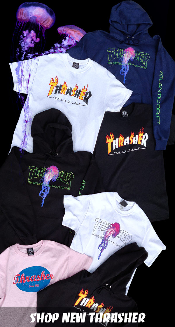 a62103f58f06 ▷ NEW THRASHER SHIRTS AND HOODIES! • West49