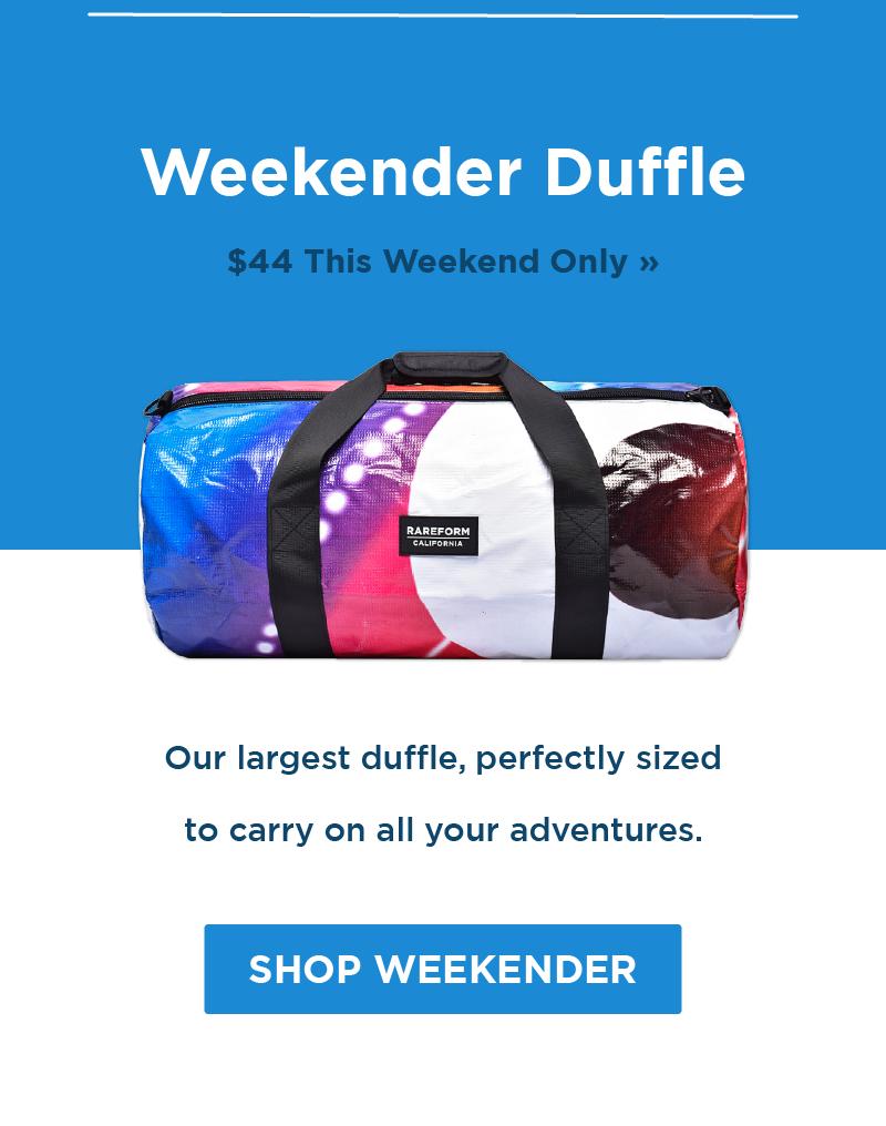 Save $20 On Weekender Duffles!