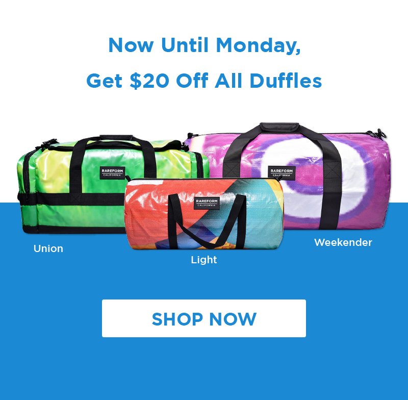 This long weekend, save $20 on all duffles!