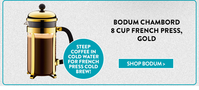 Bodum Chambord 8 Cup French Press, Gold
