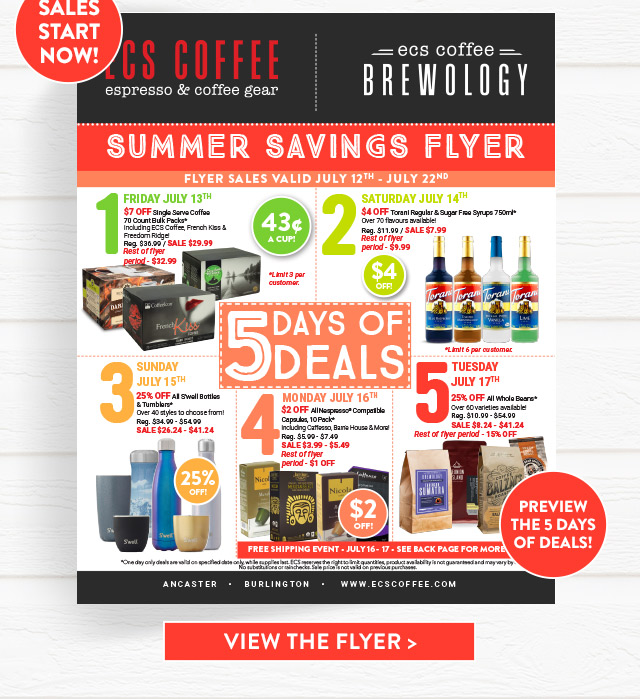Summer Savings Flyer