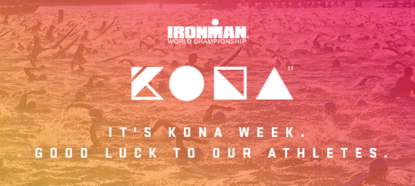 It's Kona week. Good luck to our athletes.