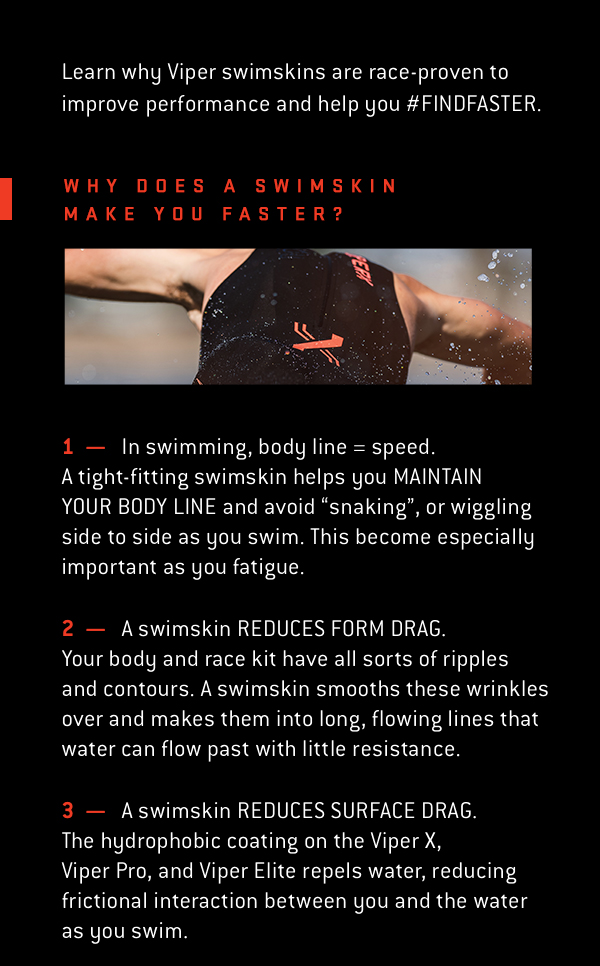 Why does a swimskin make you faster?
