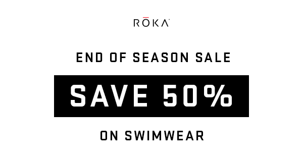 Save 50% on swimwear during the End of Season Sale.