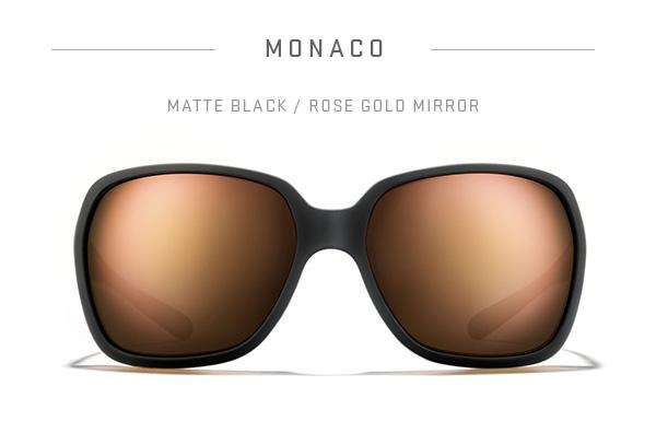 Monaco - Matte Black / Rose Gold Mirror
