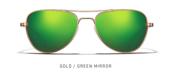 Gold / Green Mirror