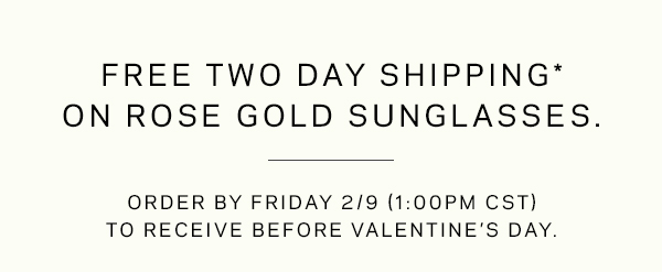 FREE 2-DAY SHIPPING ON ROSE GOLD SUNGLASSES