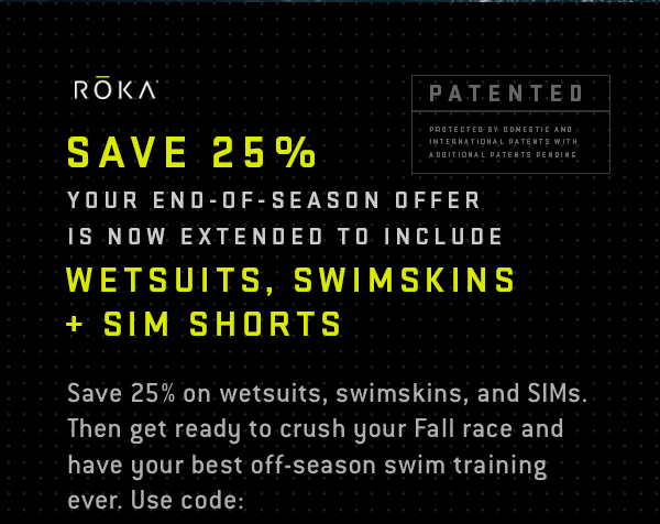 30% off Maverick Wetsuits, Viper Swimskins, and SIM Shorts