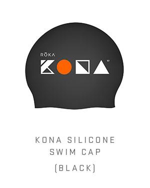 KONA Silicone Swim Cap (Black)