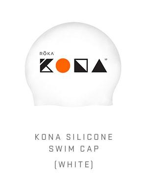 KONA Silicone Swim Cap (White)