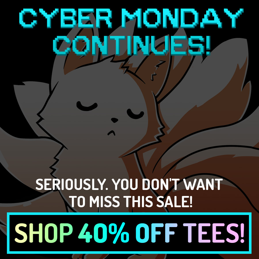 40% off tees for Cyber Monday!