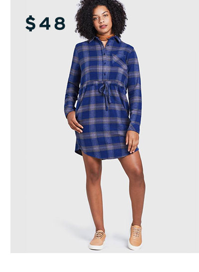 Responsible Flannel Dress