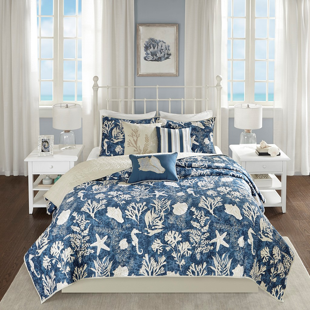 Indigo and Ivory Bedroom Collection