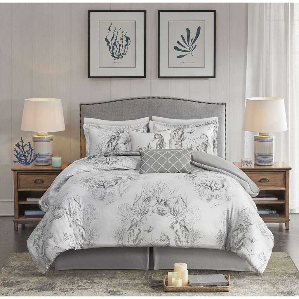 Cool Grey Sea LIfe Bedding Collection