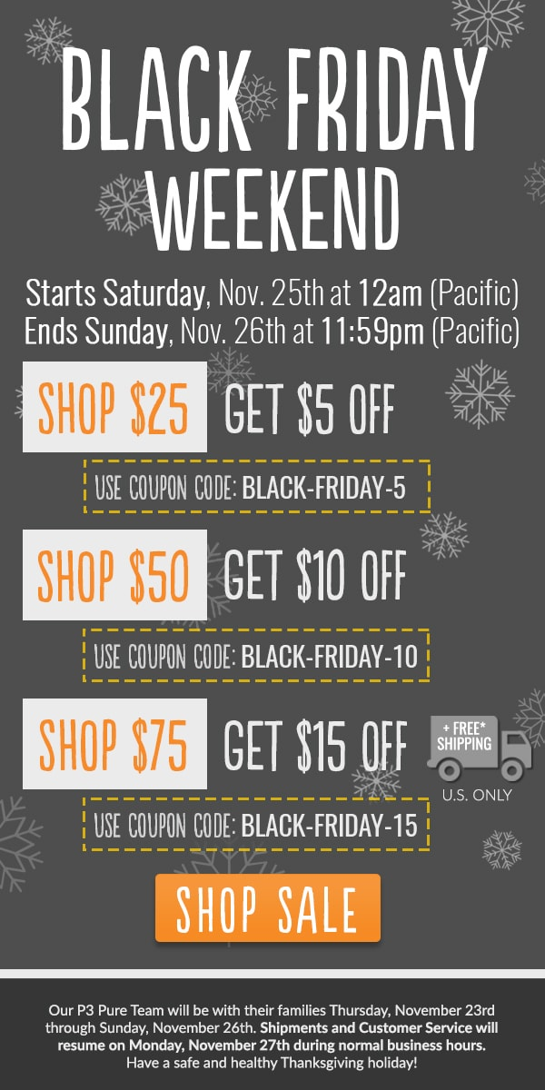 Black Friday Weekend offers